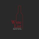 Mall för design för kort för meny för vinlista royaltyfri illustrationer