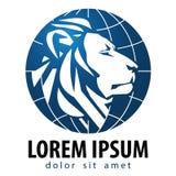 Mall för design för lejonvektorlogo Lejonet eller djur vektor illustrationer