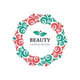 Mall för design för logo för vektorskönhetsalong Arkivfoto