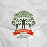 Mall för design för naturvektorlogo ekologi eller bio Arkivbilder