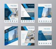 Mall för design för reklamblad för vektorårsrapportbroschyr Arkivbild