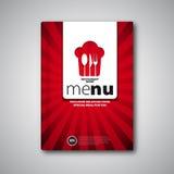 Mall för design för restaurangmenykort, broschyrbokomslag Arkivfoto