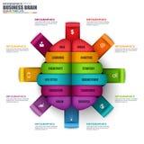 Mall för design för vektor för Infographic affärshjärna stock illustrationer