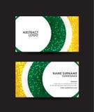 Mall för design för vektor för kort för abstrakt begreppcirkelaffär Royaltyfri Foto