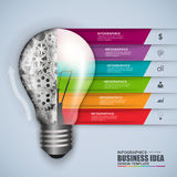 Mall för design för vektor för ljus kula för Infographic affär Royaltyfri Bild