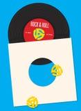 Mall för design för vinylrekord Royaltyfri Bild