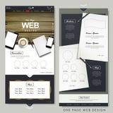Mall för design för website för sida för kontorsplats en Arkivbilder