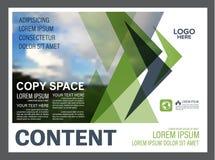 Mall för design för grönskapresentationsorientering Årsrapporträkningssida Royaltyfri Bild