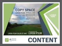 Mall för design för grönskapresentationsorientering Årsrapporträkningssida Royaltyfria Foton