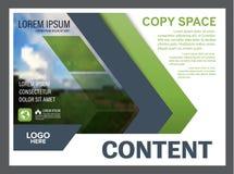 Mall för design för grönskapresentationsorientering Årsrapporträkningssida Fotografering för Bildbyråer