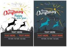 Mall för design för julparti letters amerikansk för färgexplosionen för kortet 3d ferie för hälsningen för flaggan nationalformsp Arkivbilder