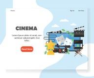 Mall för design för sida för landning för biovektorwebsite stock illustrationer