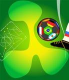Mall för design för för tappningstilfotboll eller fotboll, spac för fri kopia vektor illustrationer