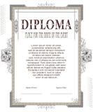 Mall för designen av diplomet, annonseringar, kuvert, in Royaltyfri Foto