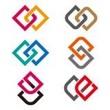 Mall för designvektorlogo vektor illustrationer
