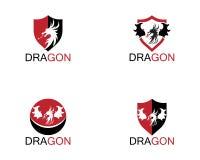 Mall för drakesymbolslogo vektor illustrationer
