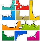 Mall för färghumorboksida vektor illustrationer