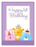 mall för födelsedagreklambladaffisch Royaltyfri Fotografi