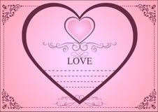 Mall för förälskelsebröllopkort Stock Illustrationer