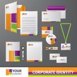 Mall för företags identitet Arkivbild