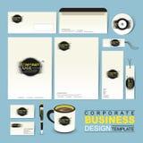 Mall för företags identitet för affär med grunge och färgpulver Arkivbild