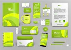 Mall för företags identitet för limefrukt Royaltyfria Bilder