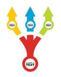 Mall för flödesdiagram med färg Arkivbilder