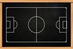 Mall för fotboll- eller fotbolllekstrategi Fotografering för Bildbyråer