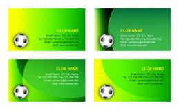 mall för fotboll för affärskort Arkivbilder