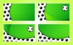 mall för fotboll för bakgrundsaffärskort Arkivbilder
