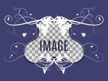 Mall för foto med att väva för druva royaltyfri illustrationer