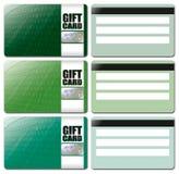 mall för gåva för 4 kort set Arkivbilder