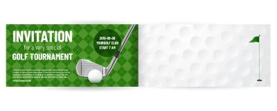 Mall för golfturneringinbjudan vektor illustrationer
