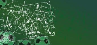 Mall för Grungy fotboll-/fotbolldesign, utrymme för fri kopia, vektor royaltyfri illustrationer
