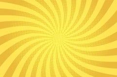 Mall för gult ljus för komiker abstrakt vektor illustrationer