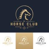 Mall för hästklubbalogo Arkivbild
