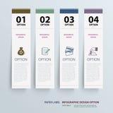 Mall för Infographic etikettflik vektor illustrationer