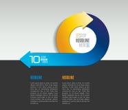 Mall för Infographic pilcirkel, diagram, diagram med textfält royaltyfri illustrationer