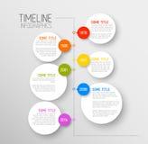 Mall för Infographic timelinerapport Fotografering för Bildbyråer