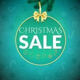 Mall för julreadesign Royaltyfria Bilder