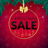 Mall för julreadesign Royaltyfri Foto