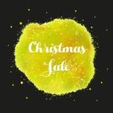 Mall för julreadesign stock illustrationer