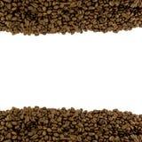 mall för kaffefootertitelrad Fotografering för Bildbyråer