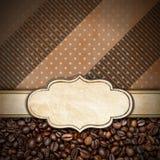 Mall för kaffehusmeny Arkivfoton