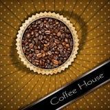 Mall för kaffehusmeny Arkivfoto
