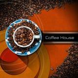 Mall för kaffehusmeny Arkivbild