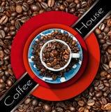 Mall för kaffehusmeny Royaltyfria Foton