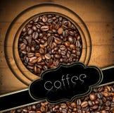 Mall för kaffehusmeny Royaltyfri Foto