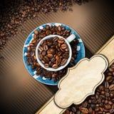 Mall för kaffehusmeny Arkivbilder