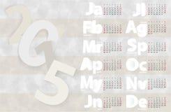 Mall 2015 för kalendervektordesign Royaltyfri Bild